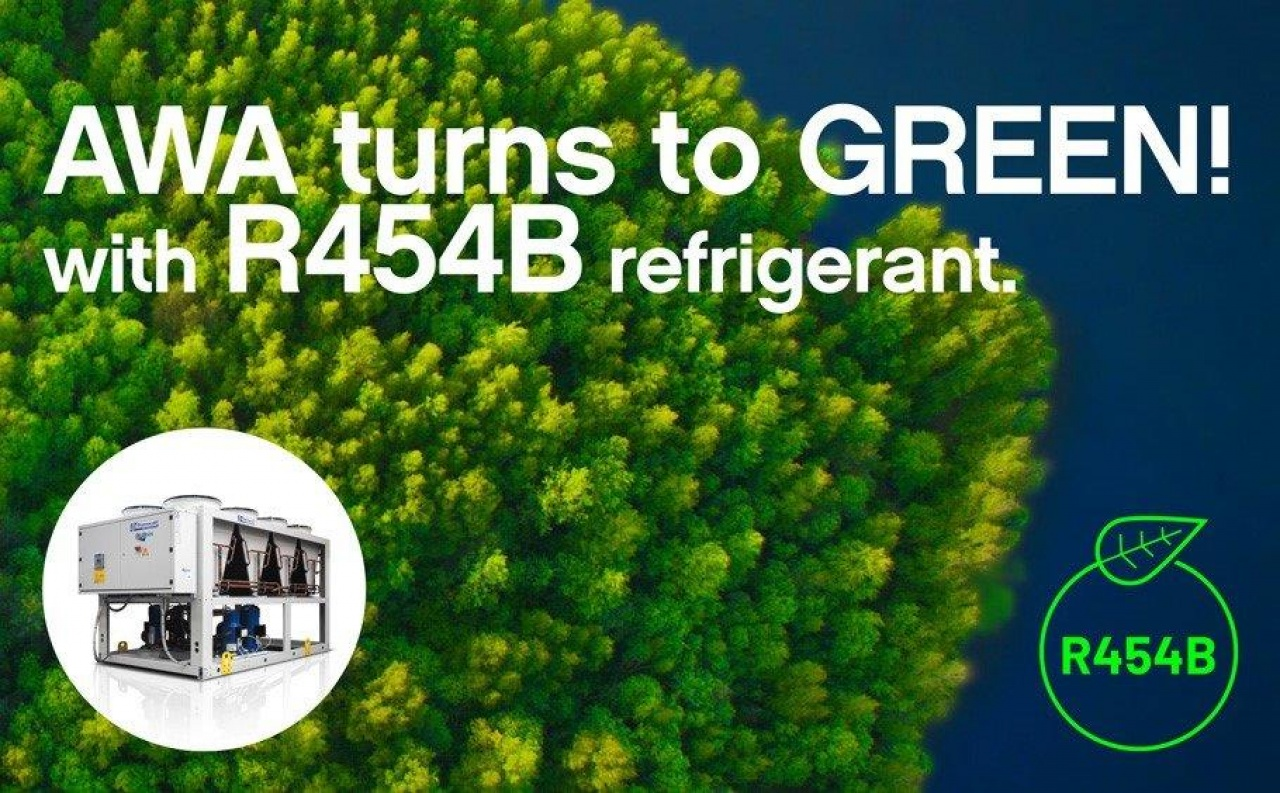 AWA turns to green with R454B refrigerant!